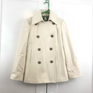 J. Crew Wool Thinsulate Double Breast Peacoat S